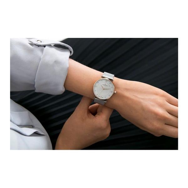 Dámské hodinky s páskem ve stříbrné barvě z nerezové oceli Frederic Graff Pulio