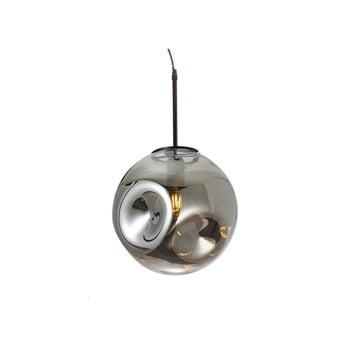 Lustră cu abajur din sticlă suflată Leitmotiv Pendulum, gri