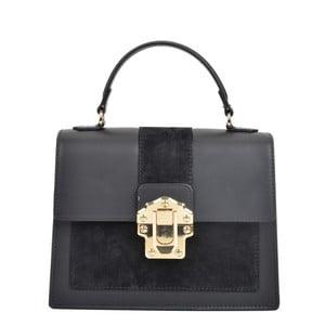 Černá kožená kabelka Isabella Rhea Antique Nero