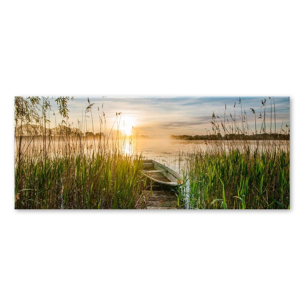 Produktové foto Obraz Styler Boat In The Grass, 125 x 50 cm