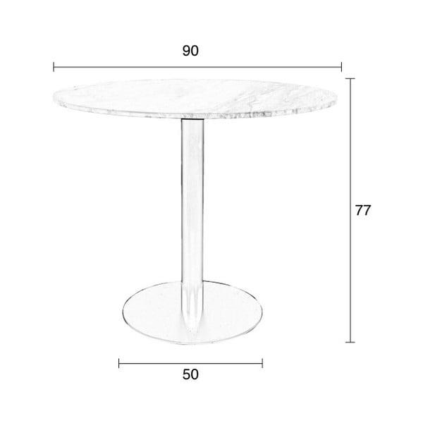 Jídelní stůl s černým podnožím Zuiver King