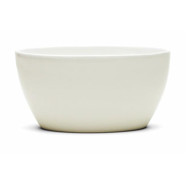 Bol din gresie ceramică Kähler Design Ursula, 22 x 13,5 cm, alb