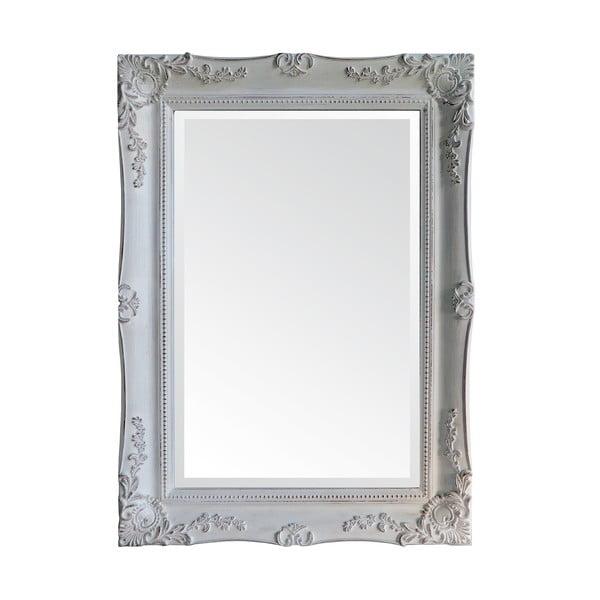 Zrcadlo v dřevěném rámu Antique White, 85x115 cm