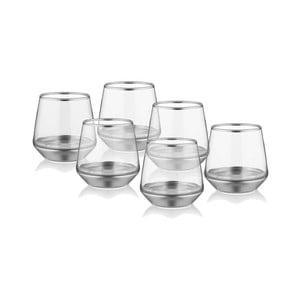 Sada 6 sklenic na whiskey ve stříbrném dekoru The Mia Glam
