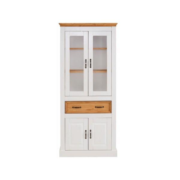 Biała witryna 4-drzwiowa z litej sosny Støraa Suzie