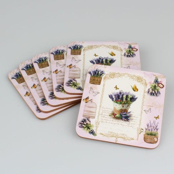 Set 6 suporturi din plută pentru cană Dakls Violet