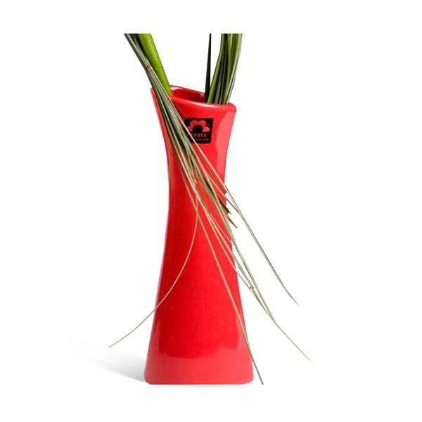 Váza Rhona 26 cm, červená