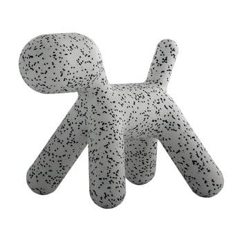Scaun în formă de câine pentru copii Magis Puppy, înălțime 34,5 cm, gri - negru imagine