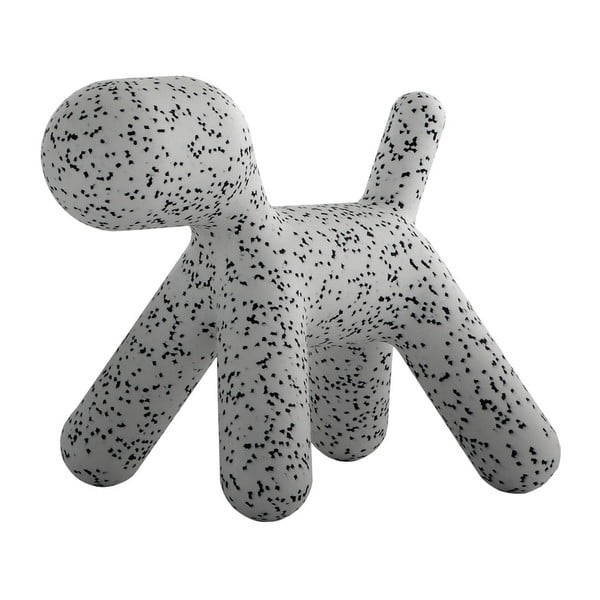 Szaro-czarne dziecięce krzesełko w kształcie pieska Magis Puppy, wys. 55,5 cm