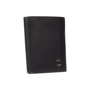 Černá pánská kožená peněženka Trussardi New Man, 12,5 x 9,5 cm