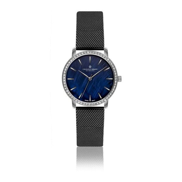 Dámske hodinky s remienkom v čiernej farbe z antikoro ocele Frederic Graff Dareo