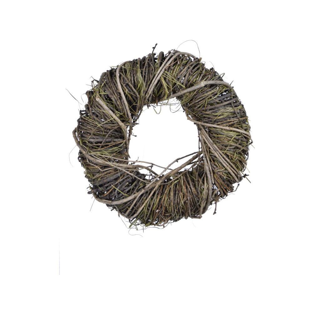 Kulatý dekorativní věnec z proutí a sušené trávy Ego Dekor, ⌀ 24 cm