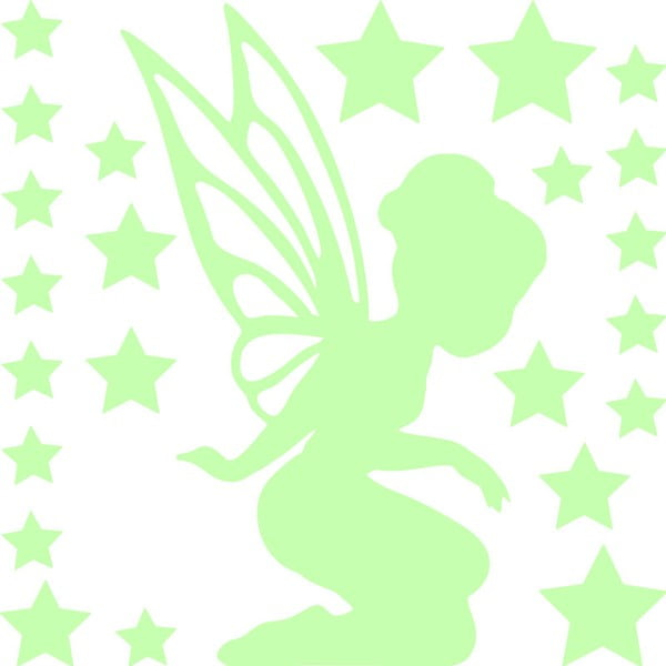 Svítící samolepka Ambiance Fanastick Fairy With Small Stars