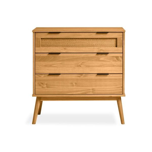 Hnedá komoda z borovicového dreva Marckeric Asmara, 80 × 82 cm