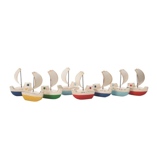 Sada 8  dekorativních loděk Galleon