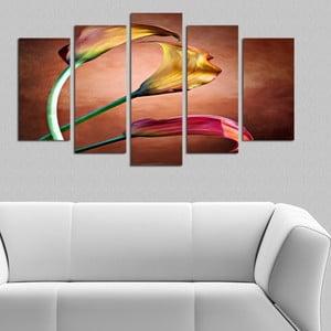 Pětidílný obraz Elegance, 110x60 cm