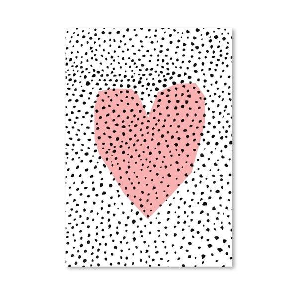 Plakát Dotty Heart, 30x42 cm