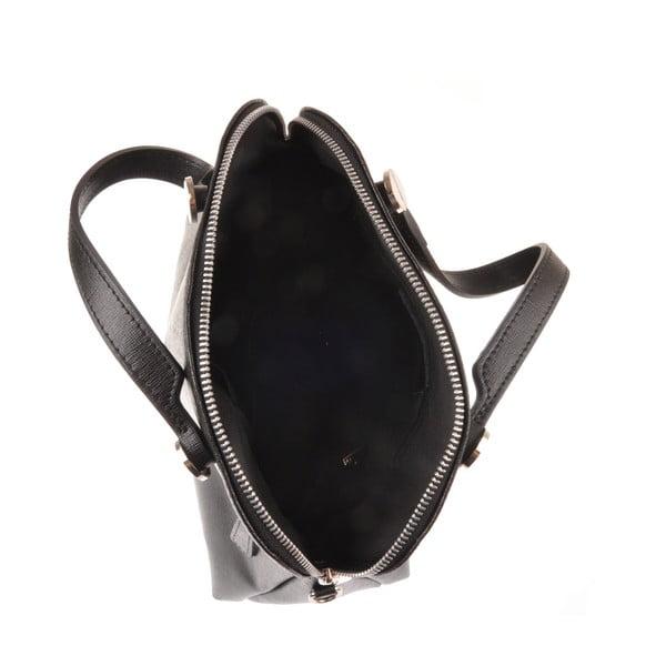 Černá kožená kabelka Florence Bags Yutz