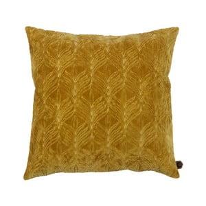 Hořčicově žlutý bavlněný polštář BePureHome, 50x50cm
