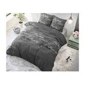 Šedé bavlněné povlečení na dvoulůžko Sleeptime Royal, 200x220cm