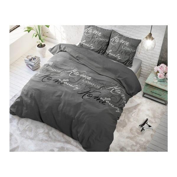 Lenjerie de pat din bumbac Dreamhouse Royal, 200 x 200 cm, gri