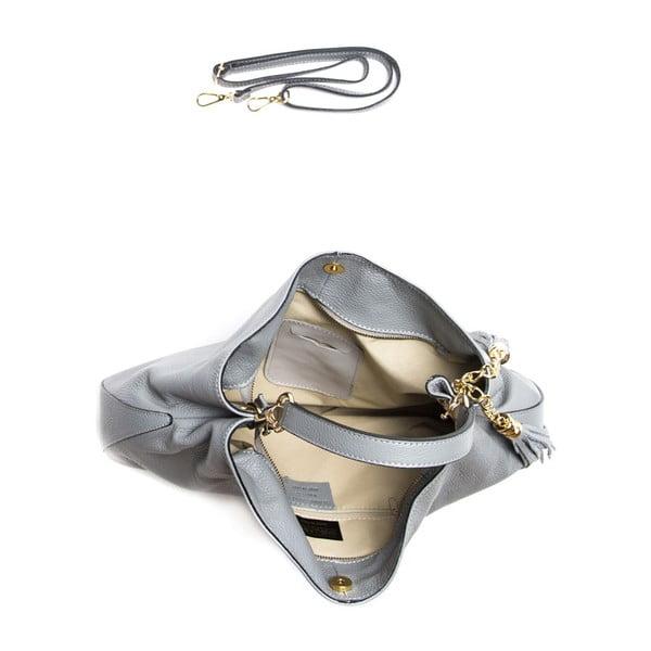 Kožená kabelka Isabella Rhea 1118 Grigio
