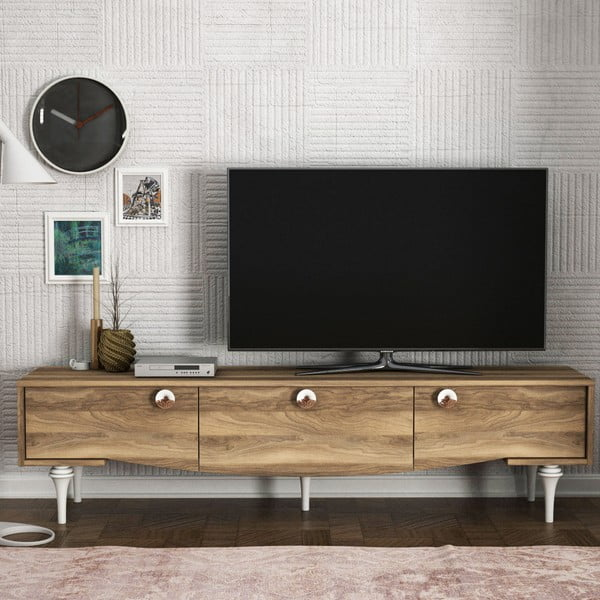 TV komoda v ořechovém dekoru Kumsal