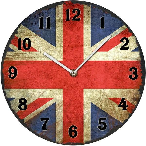Skleněné hodiny UK, 30 cm