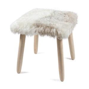 Dřevěná stolička s potahem z jehněčí kůže Arctic Fur Merro