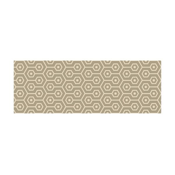 Vinylový koberec Hexagonos Beiges, 50x140 cm