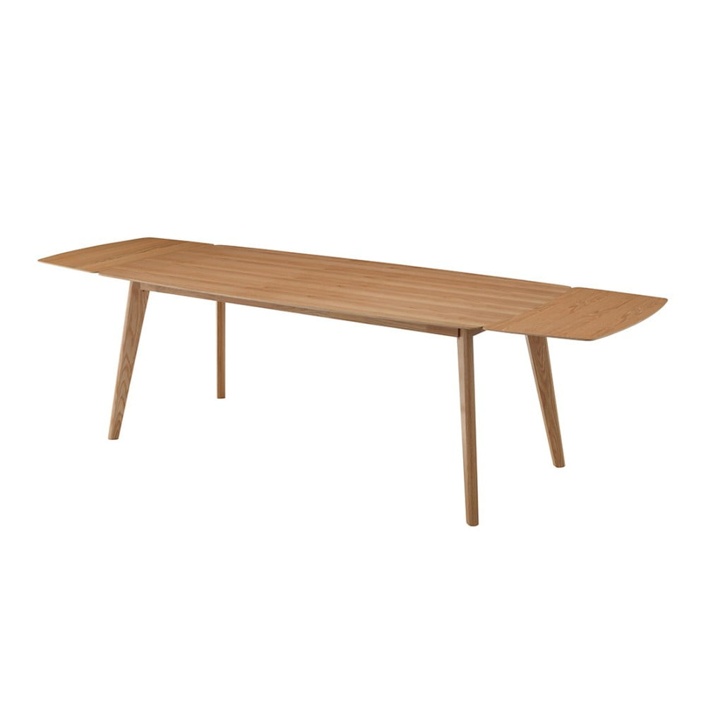 Přírodní dubová přídavná deska k jídelnímu stolu Sylph