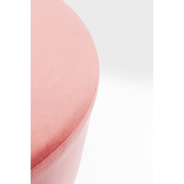 Růžová stolička Kare Design Cherry, ∅55cm