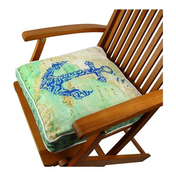 Pernă pentru scaun Gravel Anchor, 42x42cm,cuumplutură