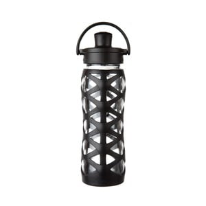 Sticlă de voiaj, din sticlă cu protecție din silicon, Lifefactory Onyx Activ, 650 ml