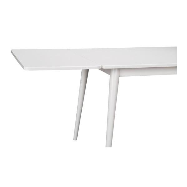 Bílá přídavná deska k jídelnímu stolu Folke Pan v dubovém dekoru, 45x90cm