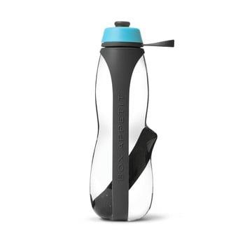 Sticlă sport cu filtru și cărbune binchotan Black + Blum Eau Good Duo, 700 ml, gri-albastru de la Black + Blum