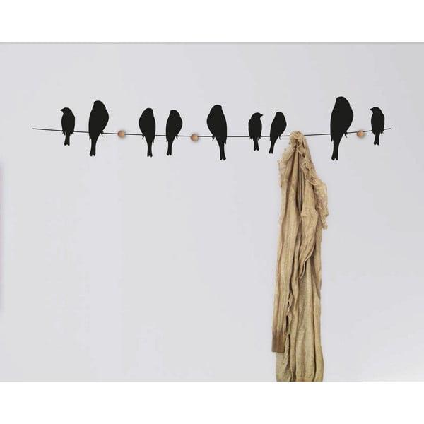 Samolepkový věšák Birds