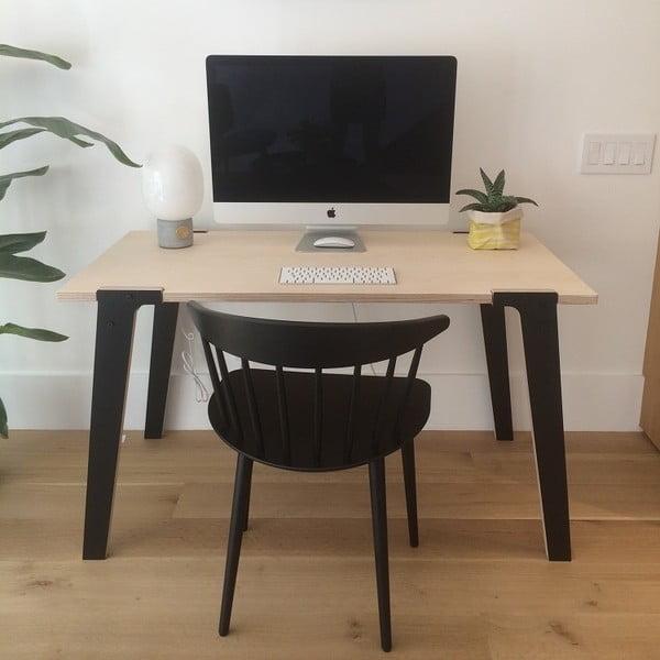 Černý jídelní/pracovní stůl rform Switch, deska 122x63 cm