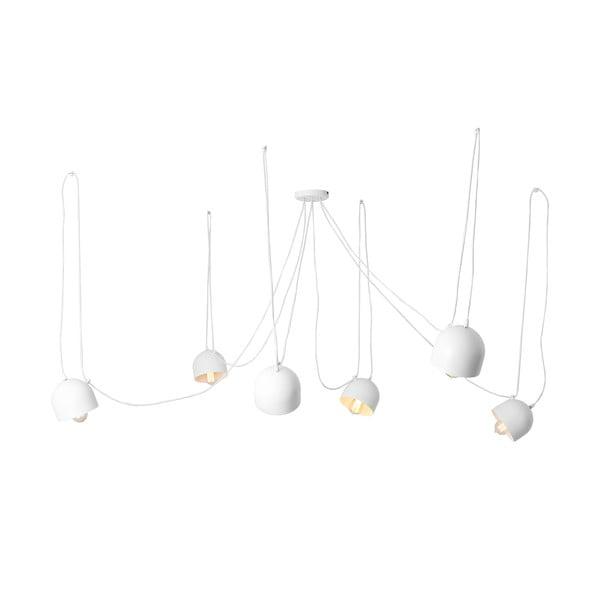 Biele závesné svietidlo na 6 žiaroviek Custom Form Popo
