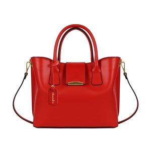 Červená kožená kabelka Maison Bag Candy