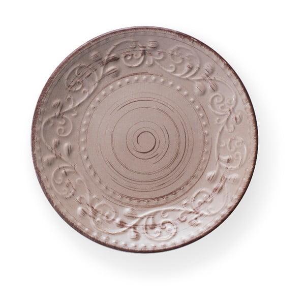 Serendipity barna agyagkerámia tányér, ⌀ 21 cm - Brandani