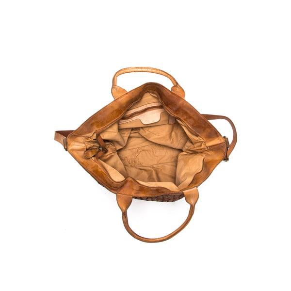 Kožená kabelka Anna Luchini 14 Cognac