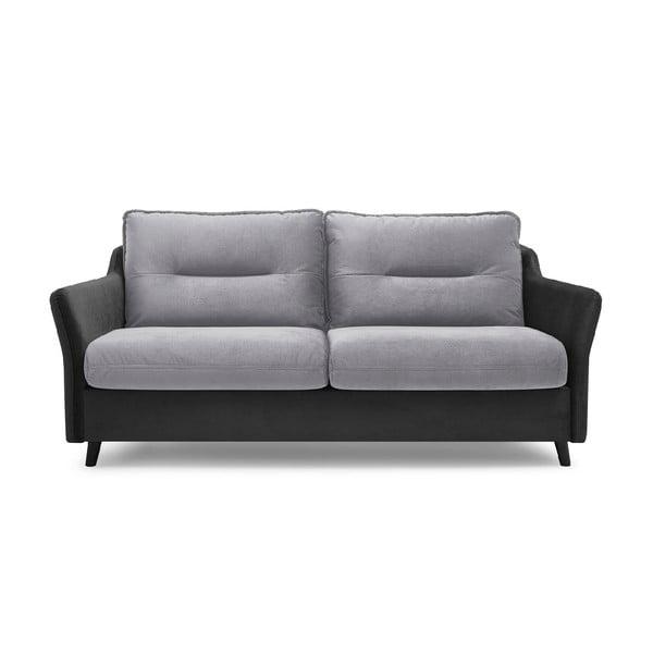 Szara 3-osobowa sofa rozkładana Bobochic Paris Loft