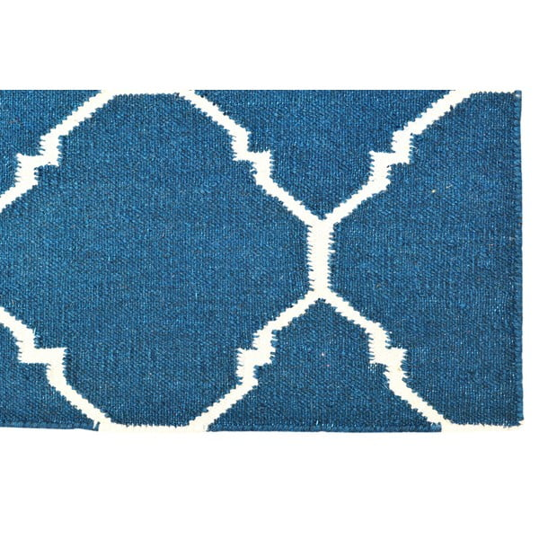 Ručně tkaný koberec Dark Blue Antic Kilim, 65x104 cm