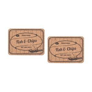 Sada 2 korkových prostírání T&G Woodware Fish&Chips