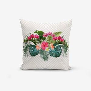Povlak na polštář s příměsí bavlny Minimalist Cushion Covers Simetrik Kareler Ogea, 45 x 45 cm