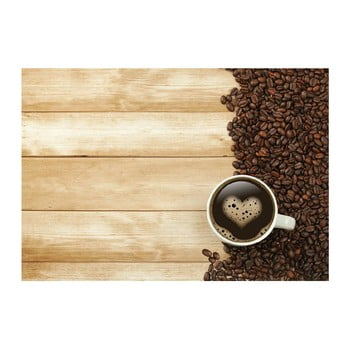 Covoraș din vinilin Coffee, 52x75 cm imagine