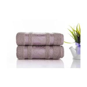Sada 2ks ručníků Carmen Light Lilac, 50x90 cm