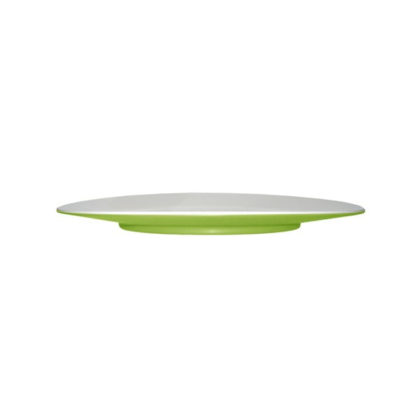 Zelený dezertní talíř Entity, 21 cm