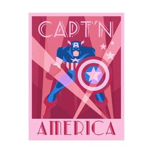 Obraz Pyramid International Marvel Deco Captain America, 60 x 80 cm